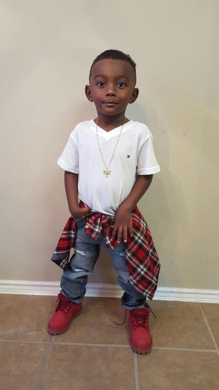 Boys Swag Fresh Red Timberlands Timberland Outfit Cute Kids | Gimme That Look | Pinterest ...