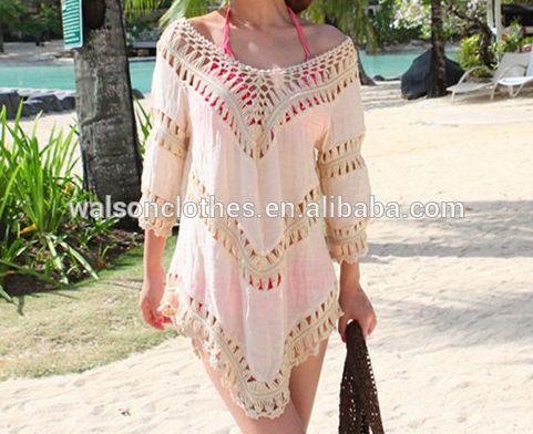42078b2b9658f walson Women Deep V Backless Wrap Swimwear Bikini Beach Cover Up Sarong Beach  Dress