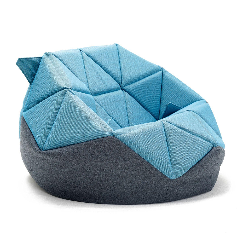 Blue and Black Marie Bean Bag Chair Пуф, Дизайн мебели