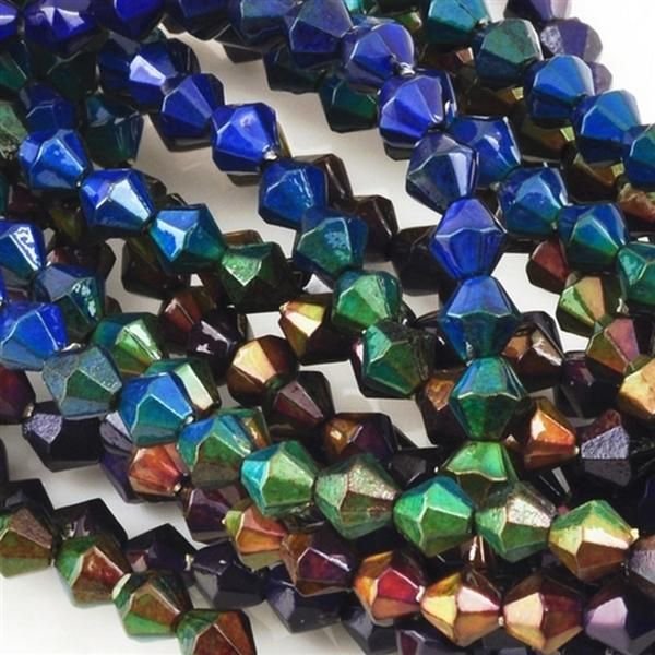 Mirage-5mm Bicone Bead-Color Changing-Quantity 50