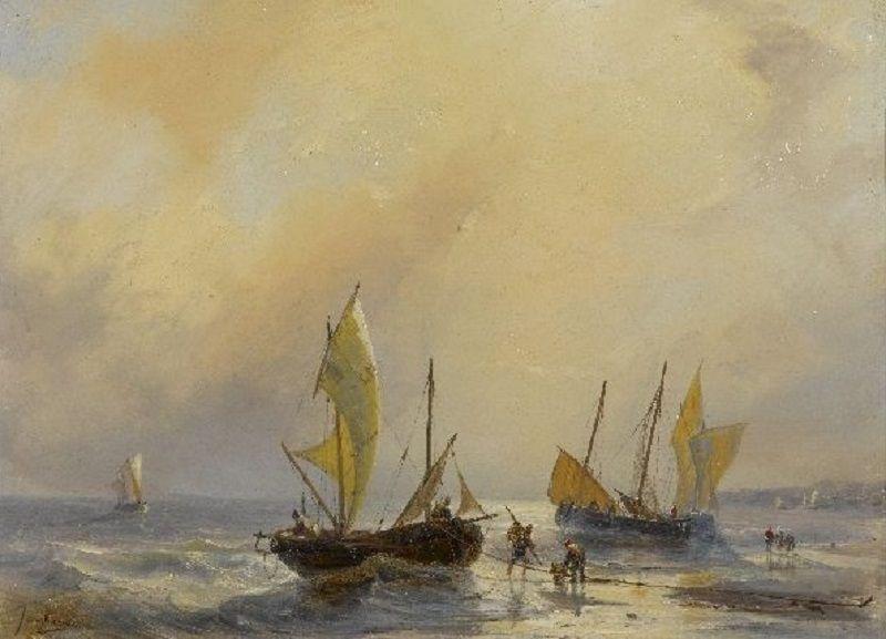 Johan Barthold Jongkind - Plage sur la côte normande