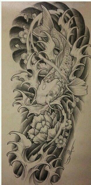 Pin By Pascual Nava On Tattoos Japanese Tattoo Koi Tattoo Design Koi Dragon Tattoo