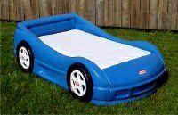 Little Tikes Race Car Bed Blue Mattress Not Included Car Bed Blue Bedding Race Car Bed