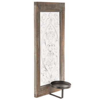 White Embossed Wall Sconce | Sconces, Wall sconces, Decor on Sconces Wall Decor Hobby Lobby id=92837