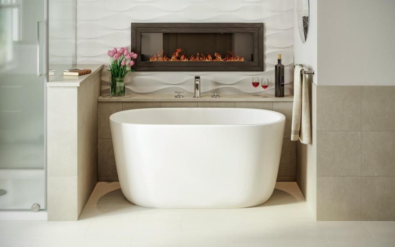 The Lullaby Nano is Aquatica\'s take on creating a small deep bathtub ...