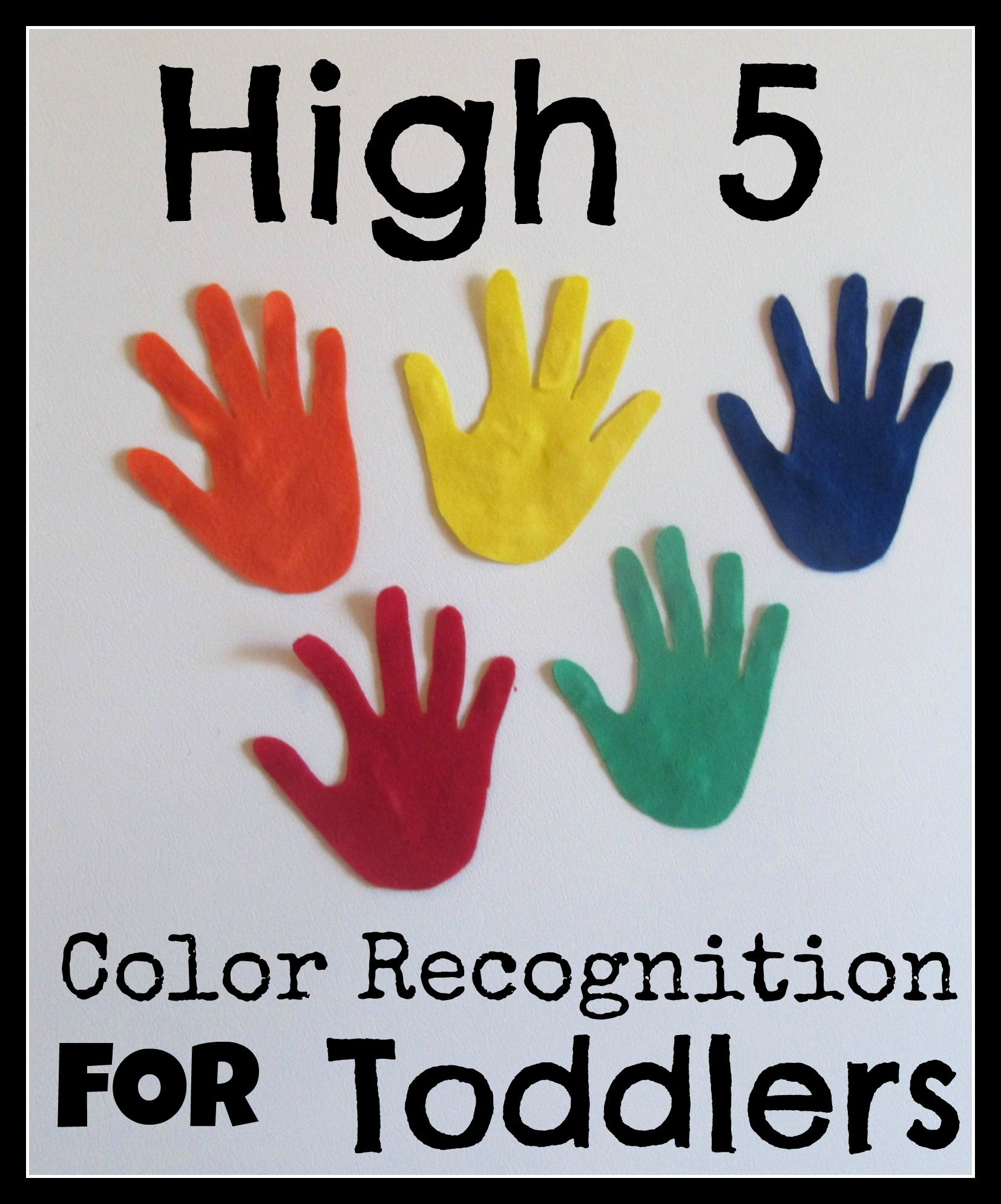 Color Recognition You Can Use Foam Or Paper Instead Of
