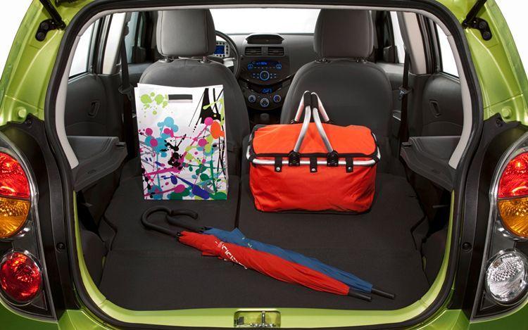 Chevy Spark Trunk Space Minicar Mylink Chevrolet Spark