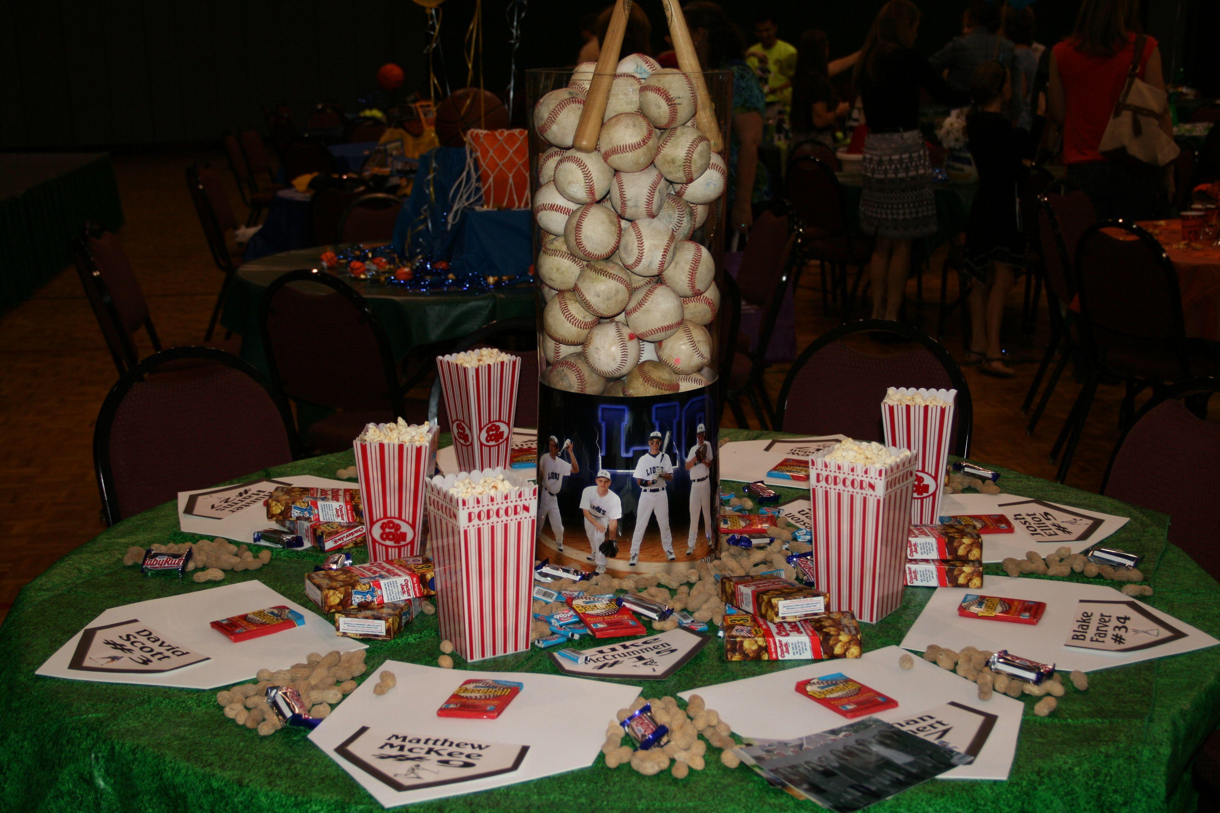 Baseball Banquet Table To Baseball Baseball Theme Party