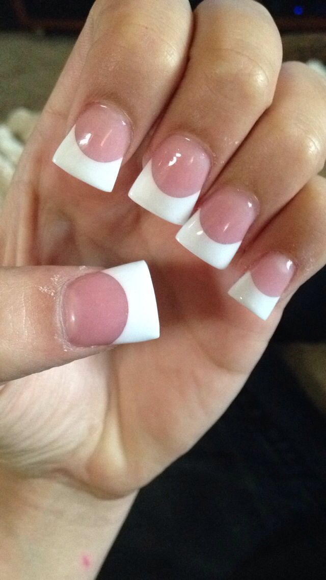 Cute French Tip Acrylic Flare Acrylic Nails Flare Nails French Acrylic Nails