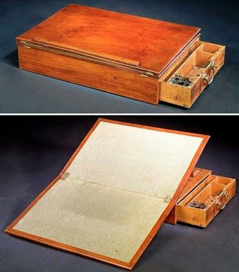 Thomas Jefferson's portable writing desk. So cool. the ...