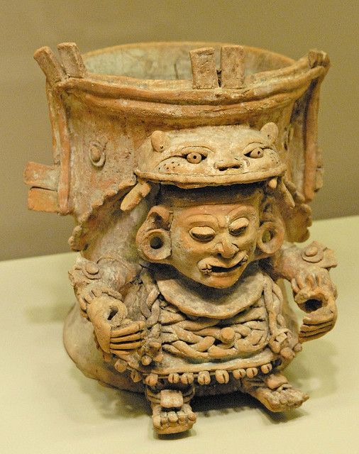 Zapotec vase with tigre oaxaca mexico men wear and