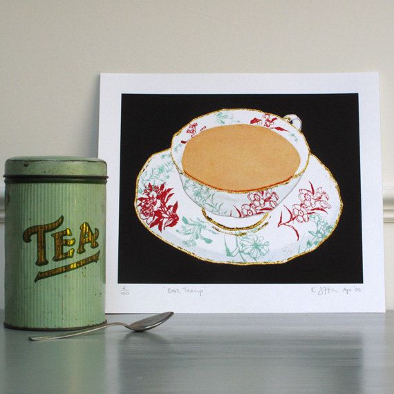 China Tea in a China Cup , 10 x 8 Print on paper
