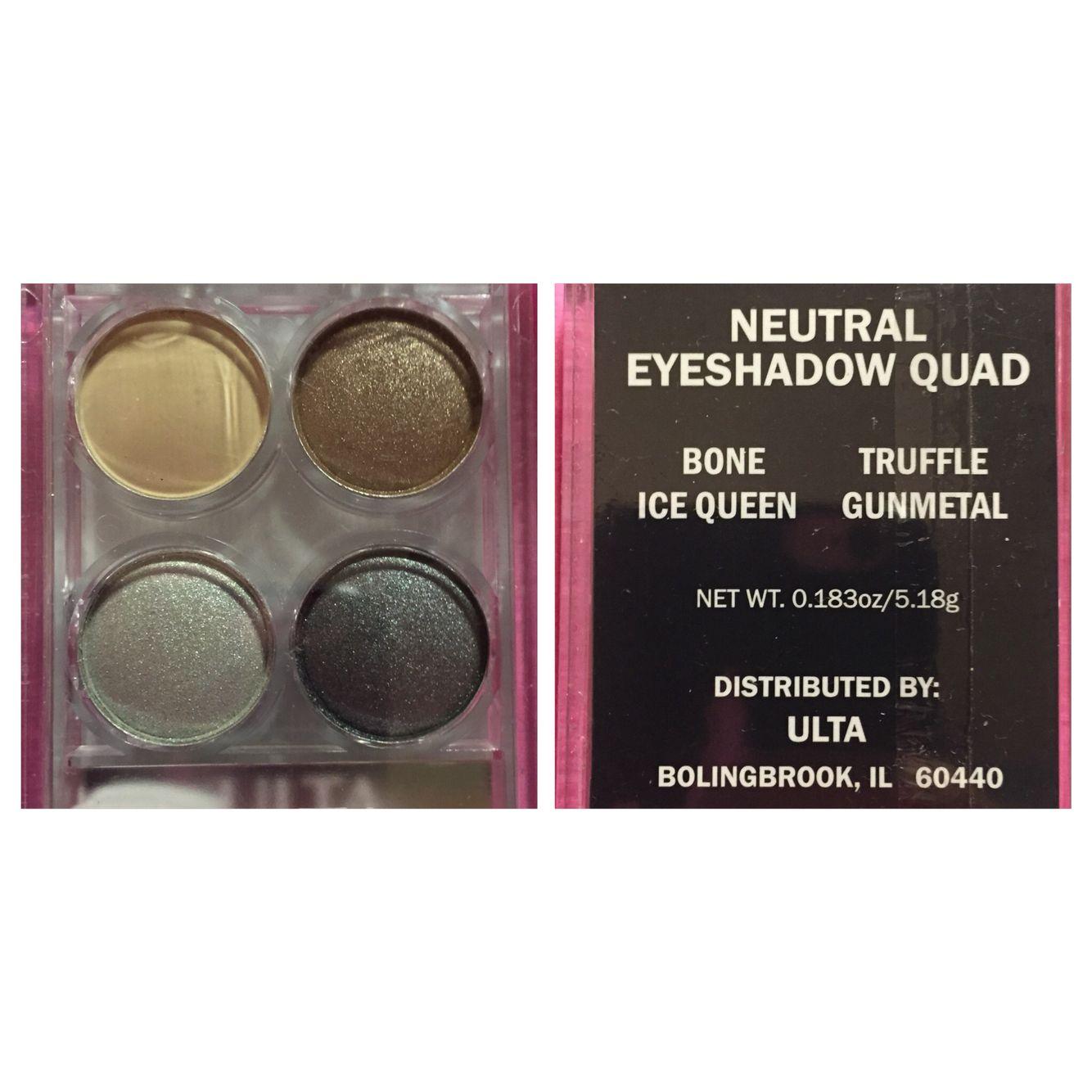 Ulta neutral eyeshadow quad