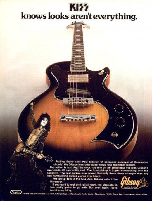 Paul stanley of kiss in an advertisement for the gibson marauder paul stanley of kiss in an advertisement for the gibson marauder sciox Gallery