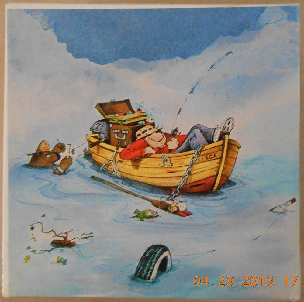 Gary Patterson's GONE FISHING 100 piece MINI Puzzle Complete