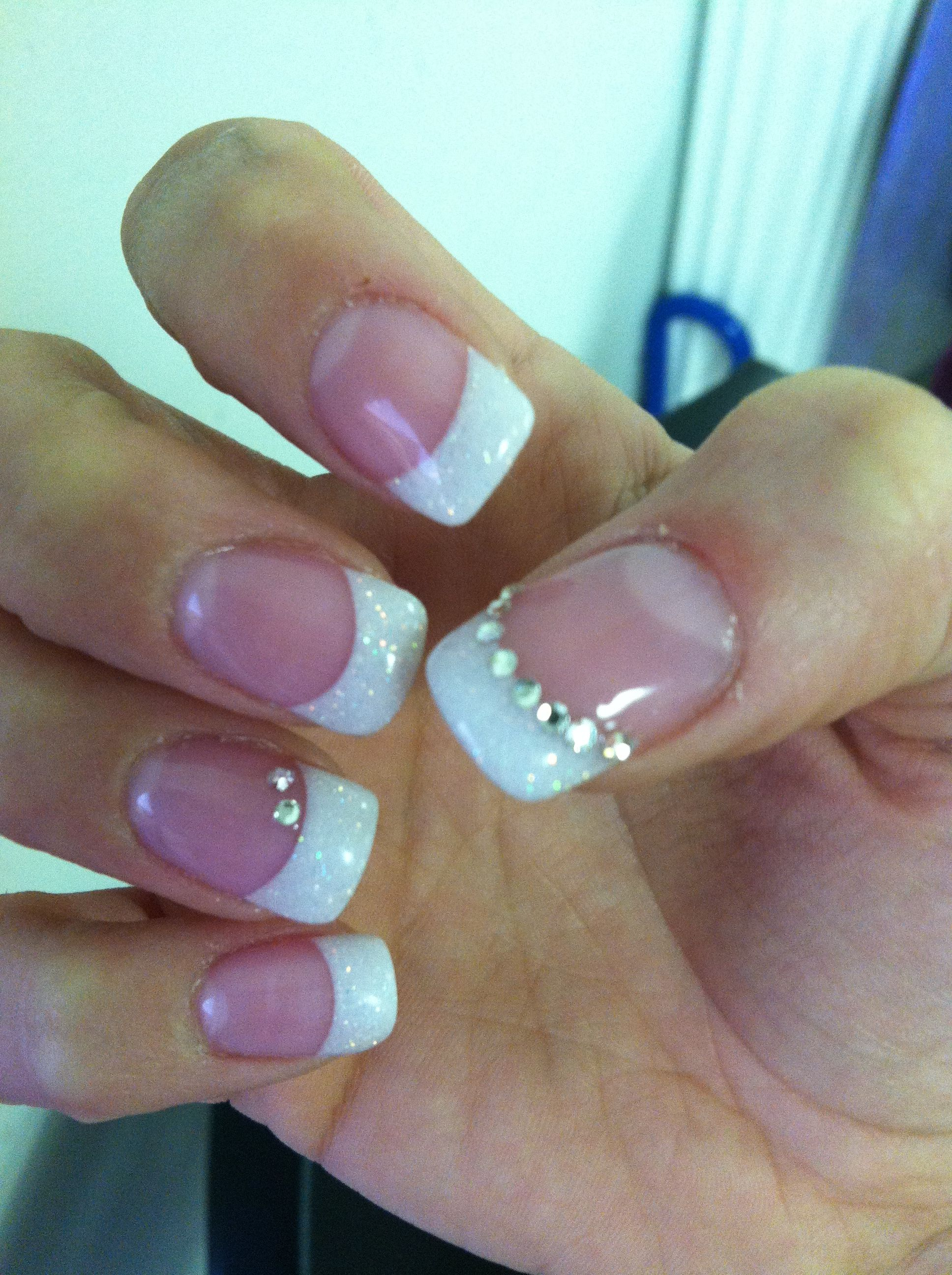 wedding day nails totally