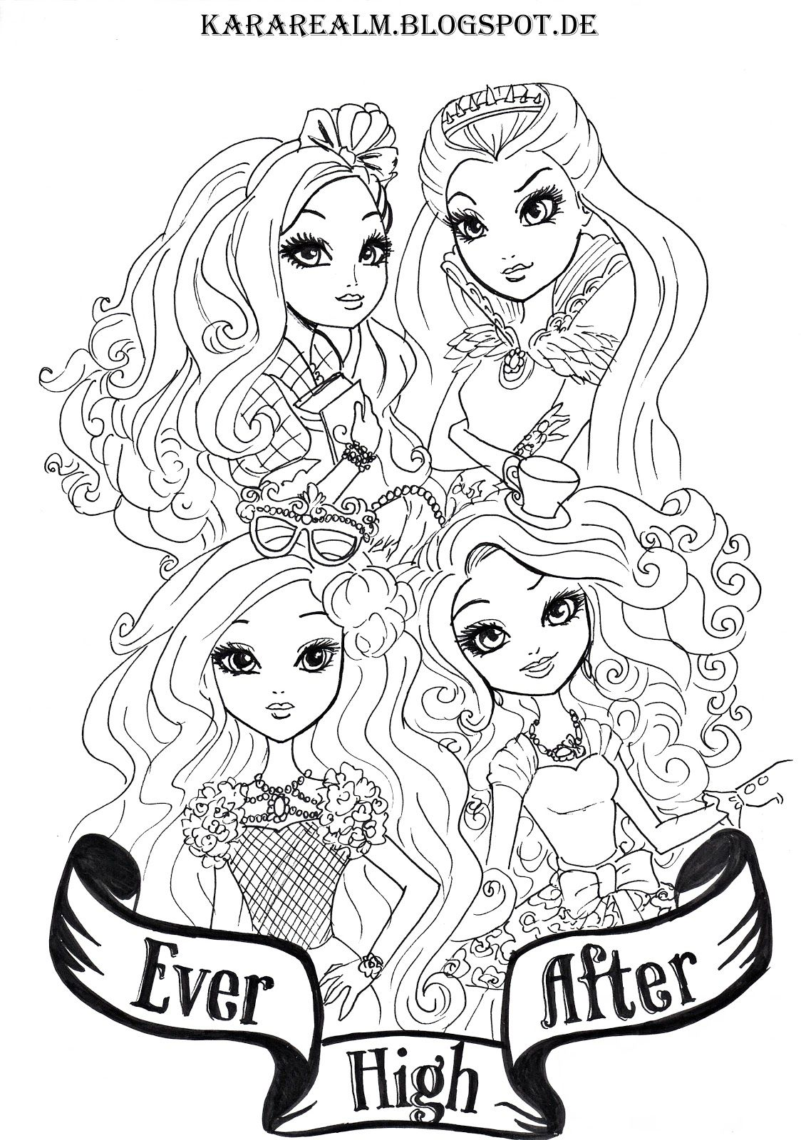 Kara Realm: Ever After High Coloring Pages | To draw | Pinterest ...
