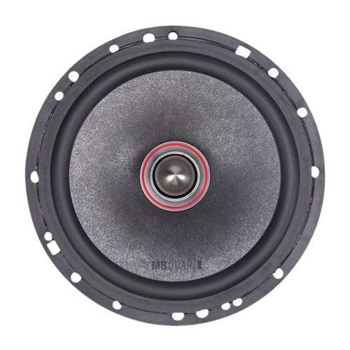 """MB Quart - 6.5"""" 3-Way Car Speakers with Aerated Paper Cones (Pair) - Black"""