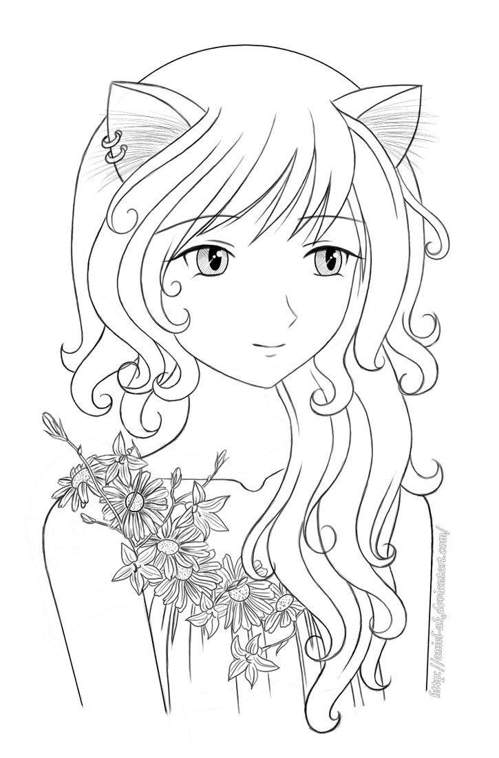 Раскраски для девочек аниме девушки
