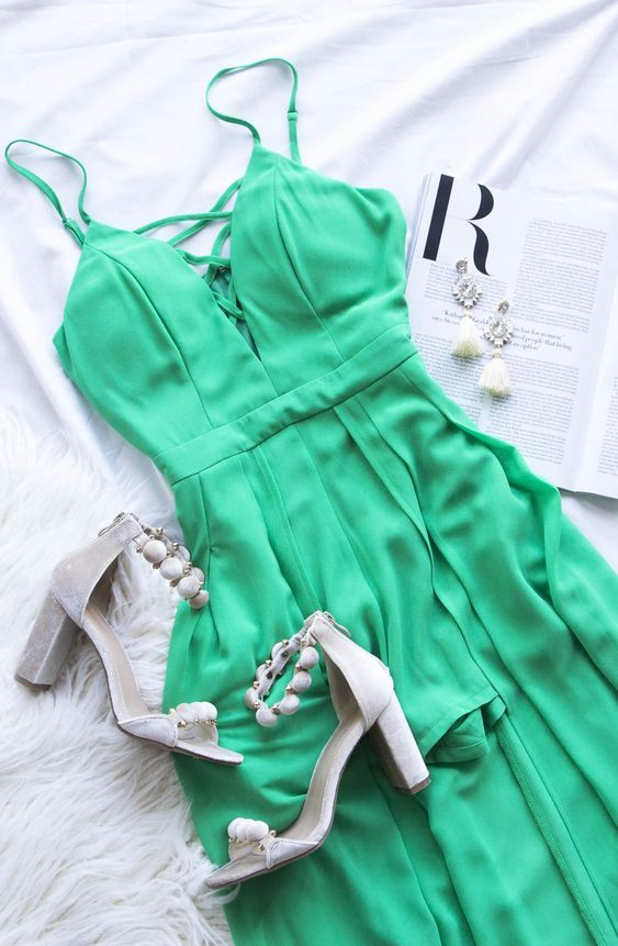 A Night To Remember Maxi Romper Green