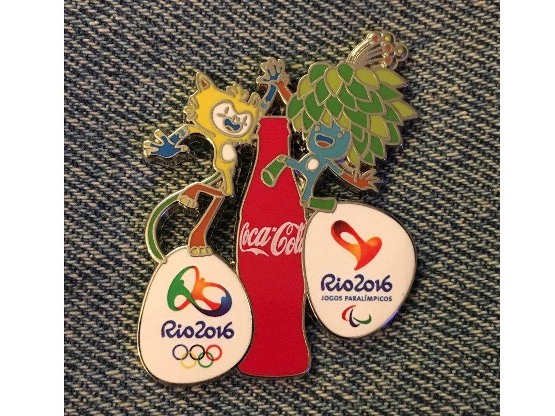Beach Volleyball Olympic Lapel Pin~Woman/'s~2016 RIO Logo~Slider~3D~GE~Brazil