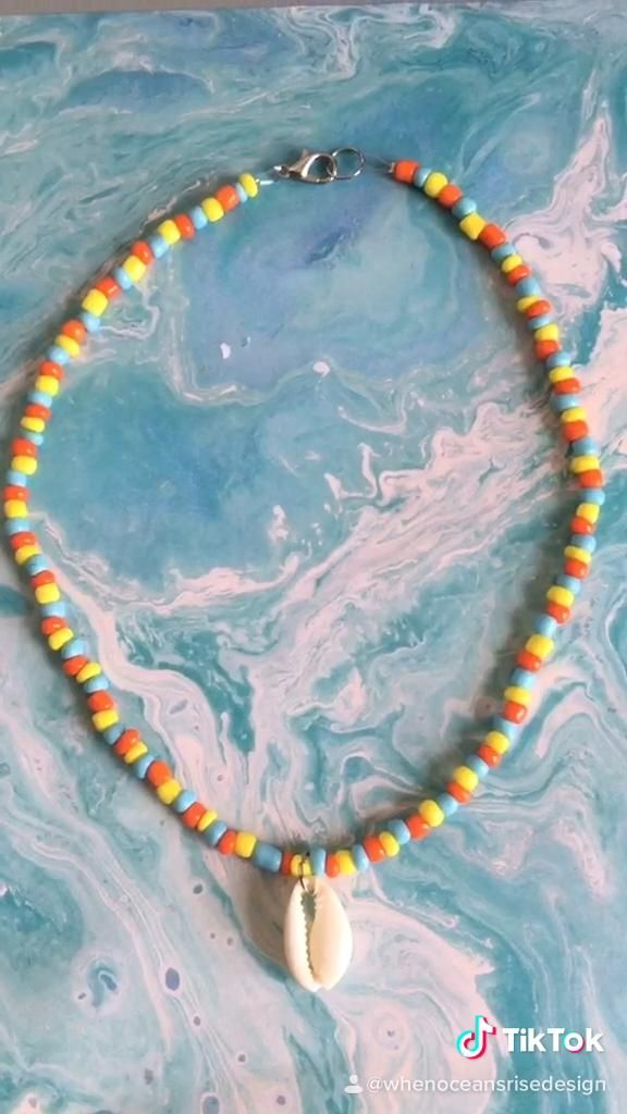 Photo of Summer Cowrie Shell Choker Necklace available in my Etsy shop.