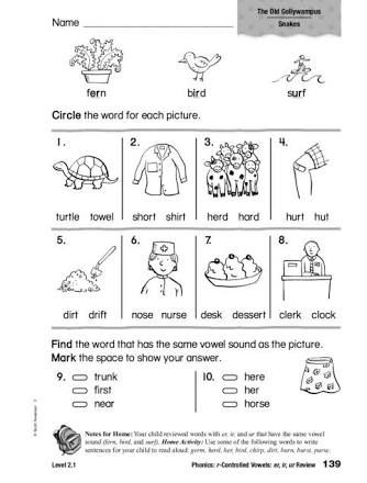 Er Phonics Word Search