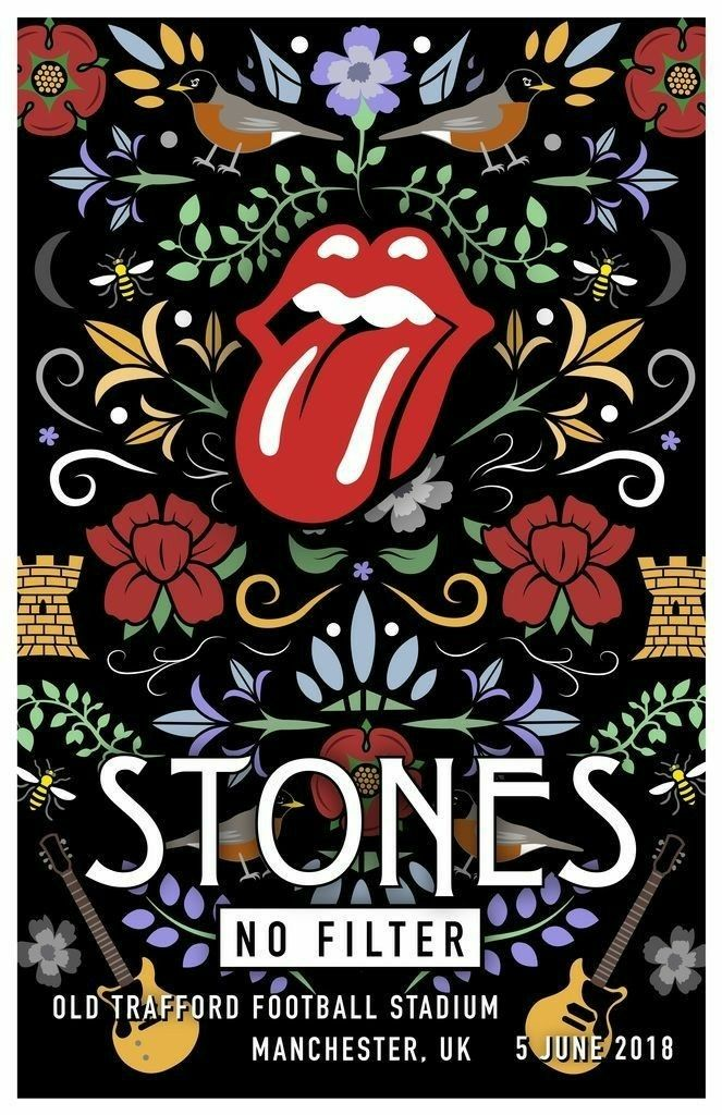 The Rolling Stones No Filter Tour Manchester Uk Vintage Concert Posters Rolling Stones Poster Vintage Music Posters