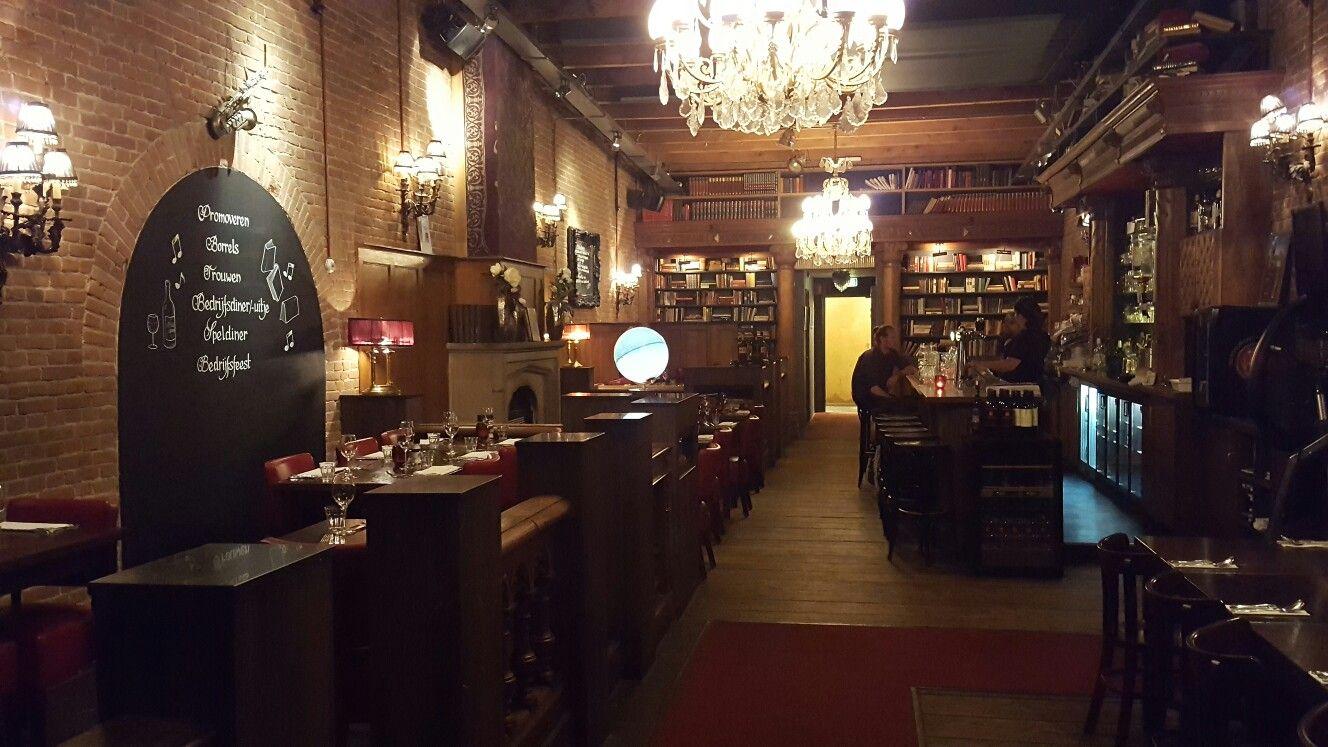 Biblio restaurant Rotterdam, 18th century library style
