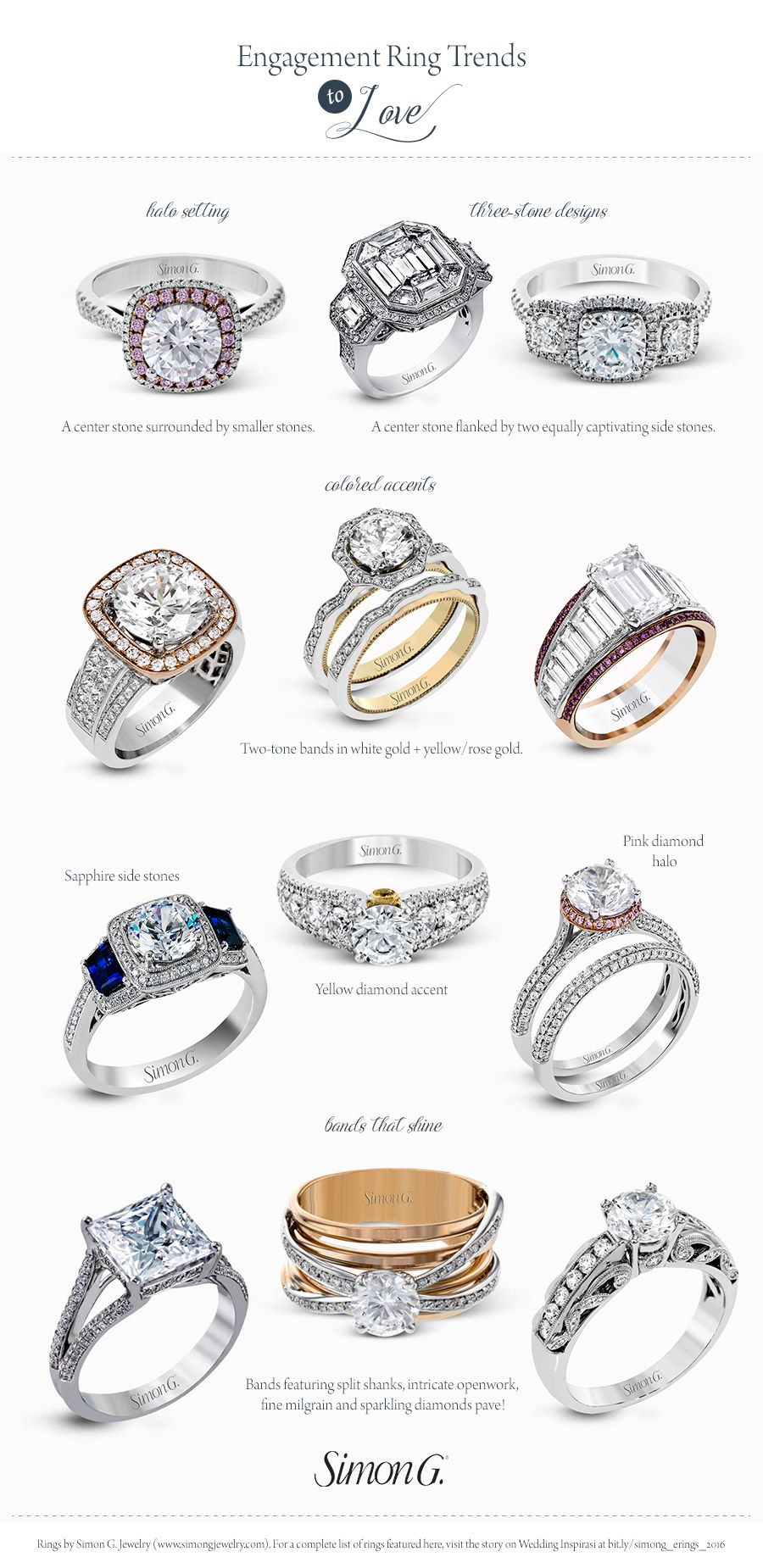 Simon G Gorgeous Engagement Rings Wedding Ring Styles And Trends 2017 Colored Diamond Rose Gold Three Stone Halo Ering