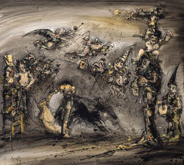 Caprichos y fantasías, 2013 Óleo sobre tela 90 x 100 cm