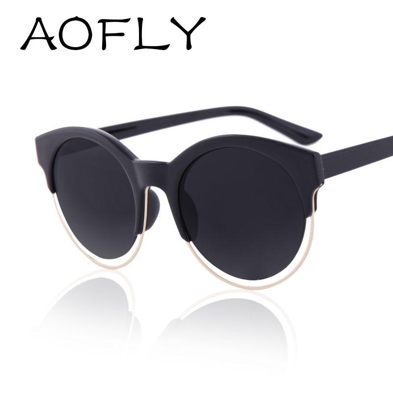 9c676e43db Aofly mujeres de moda SIDERAL marca de diseño gafas de estilo Retro de la  estrella ronda ojo de gato espejo gafas de sol gafas de sol UV400 AF2103 en  Gafas ...