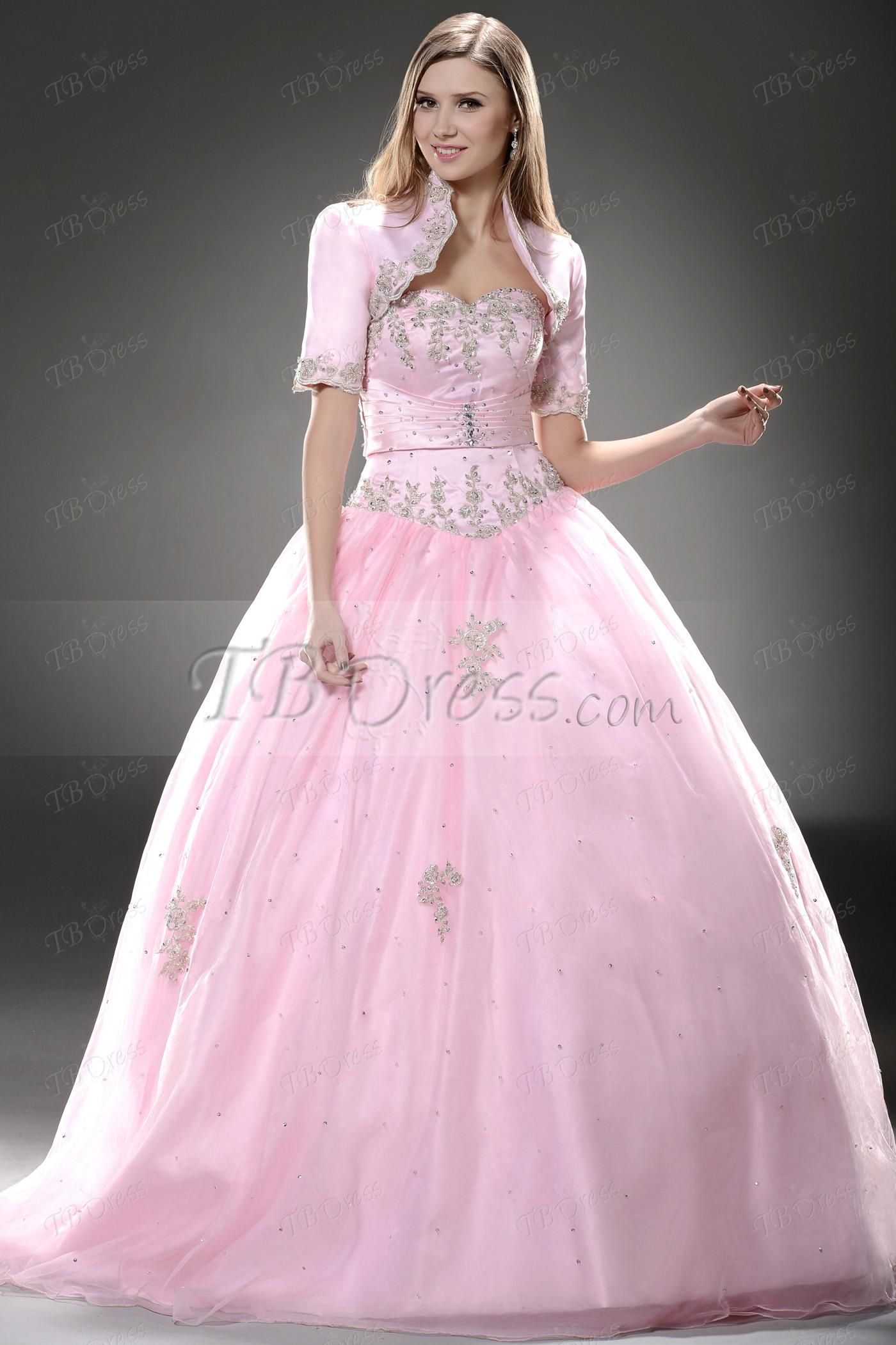 Ball gown sweetheart beading long quinceanera dress amazing gowns
