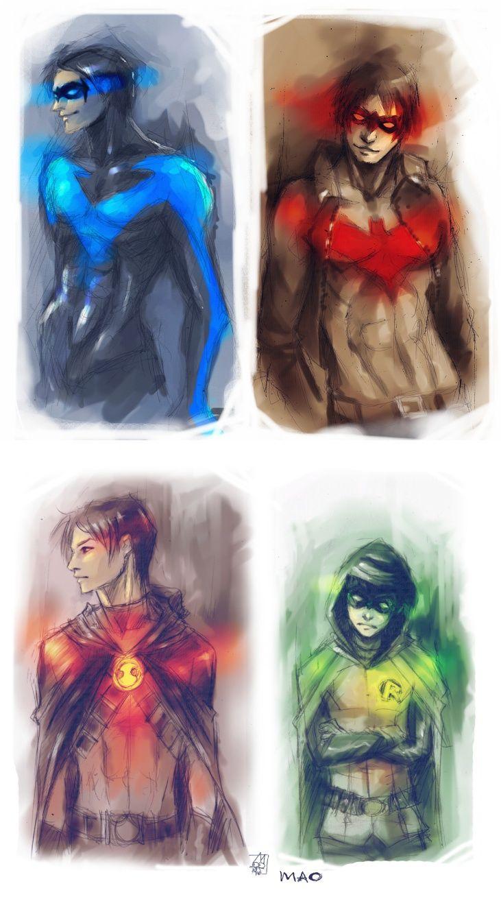 RobinS by ~AkiMao on deviantART -The Four Robins: Dick Grayson