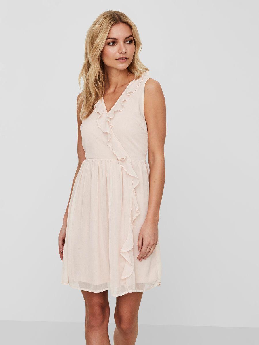 4b11f0b4b10f Volangprydd ärmlös klänning | VERO MODA | Inspo For Sis' | Dresses ...