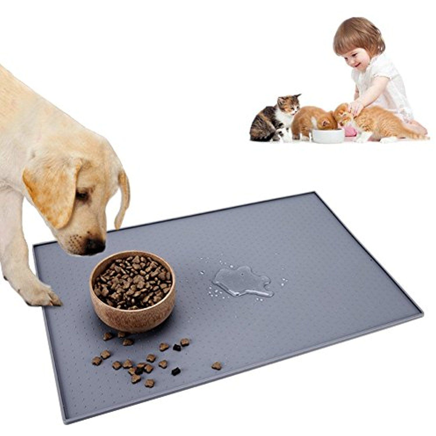 Pet food mat for dogs and cats 24x16 large washable