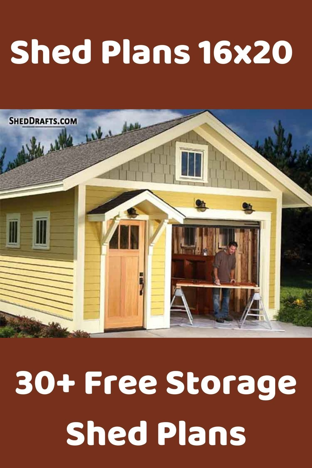 16x20 Diy Storage Shed Plans How To Build Roof Trusses For A 16x20 Shed In 2020 Diy Storage Shed Plans Shed Plans Shed