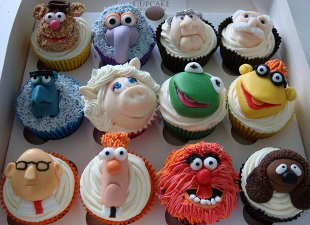 OK these are just yummy fun cupcakes even for big kids but especially for the little children who love muppets, birthday parties or any time favorites