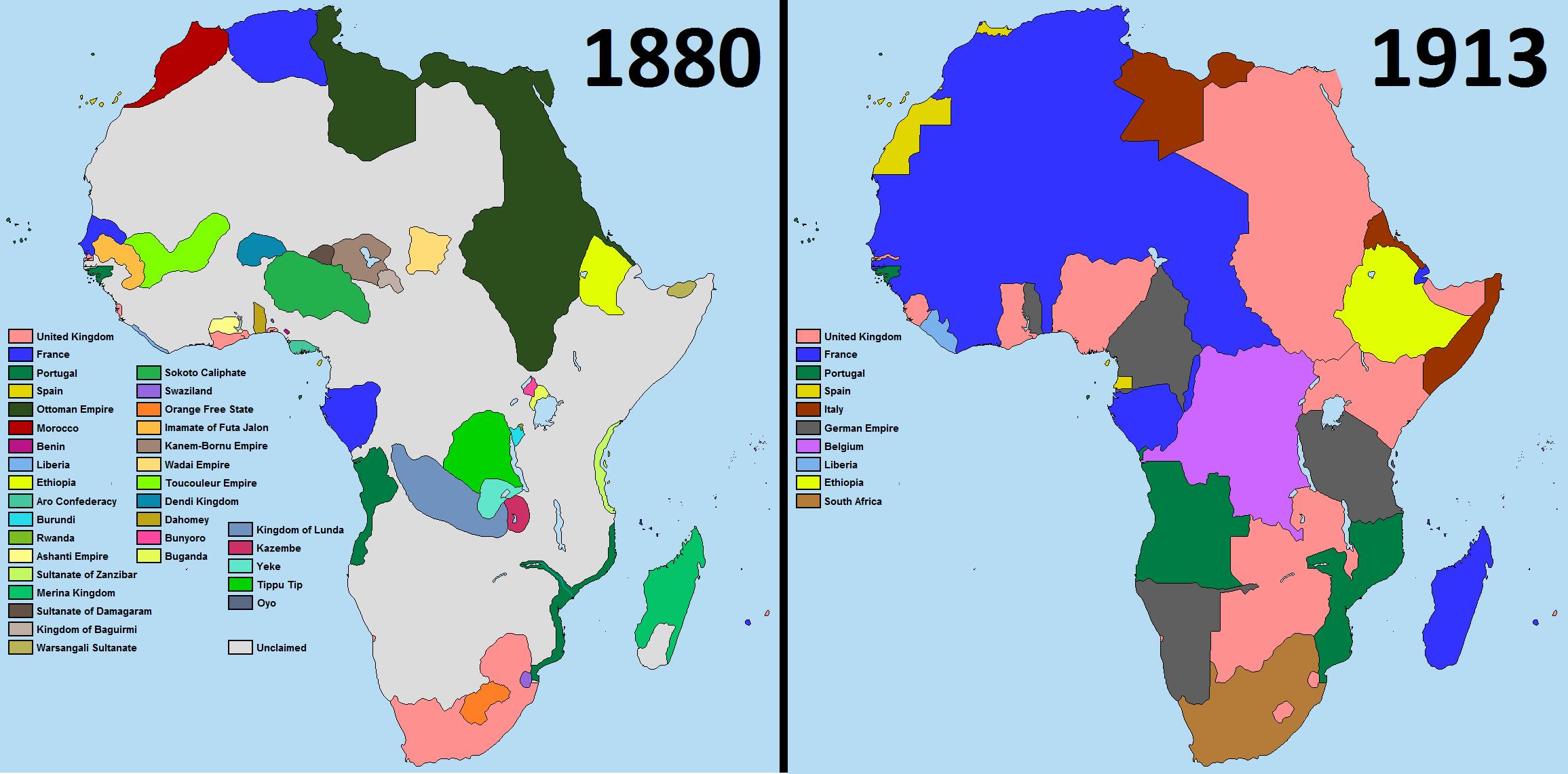 Scramble For Africa 1880 1913 Afrika Karte Afrika Tansania