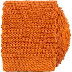 Amanda Christensen Cravate en Soie Tricotée 6 cm Orange Amanda Christensen   – Products