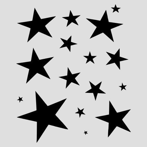 Star stencil many sizes stars paint celestial craft art template 8 - star template