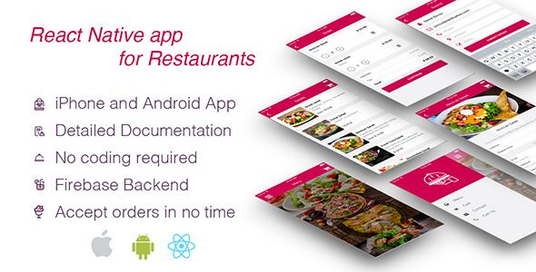 Restaurant Template React Native Android Cafe