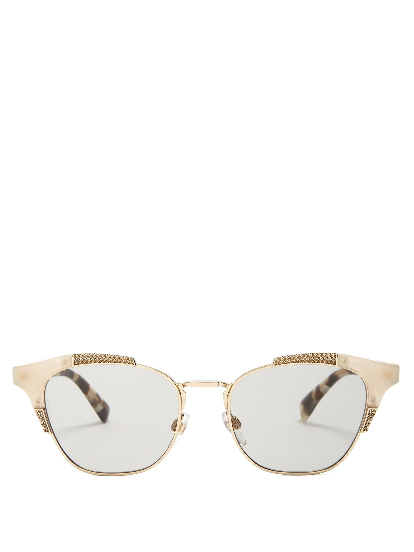Cat-eye metal and acetate sunglasses Valentino 01r3jVKbtZ