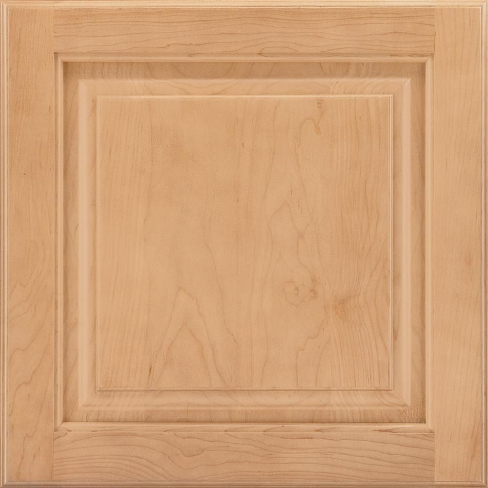 X in cabinet door sample in portola maple honey