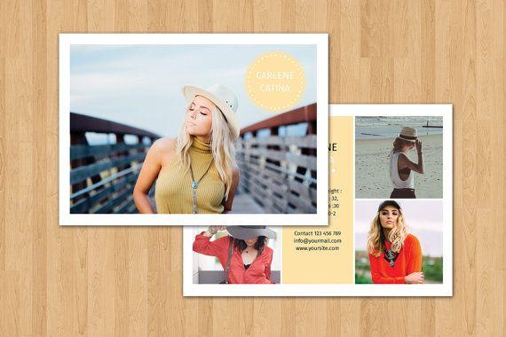 fashion model comp card template modeling comp by. Black Bedroom Furniture Sets. Home Design Ideas