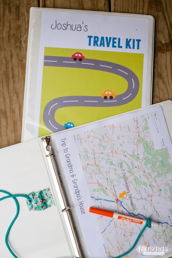 Kids Travel Kit Binder Over 150 Free Printable Activities
