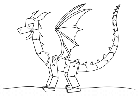 Minecraft Ender Dragon Coloring Page Printables Kids Pinterest