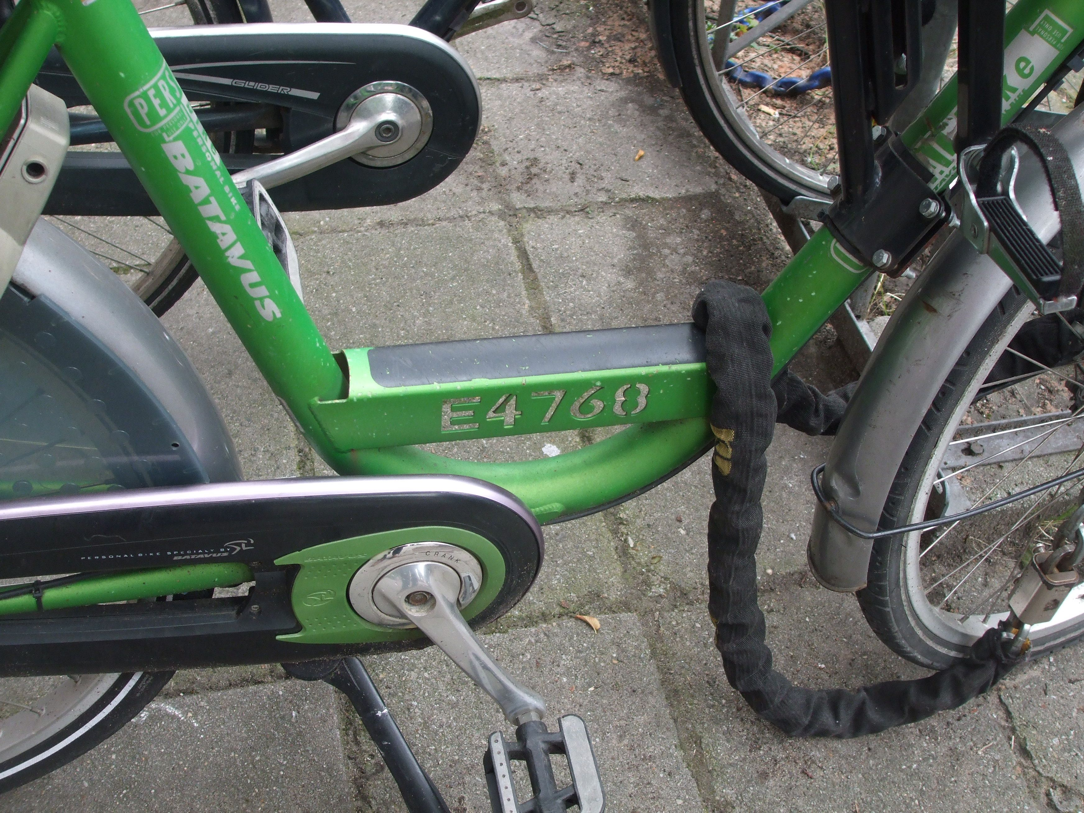 bike with text and number green
