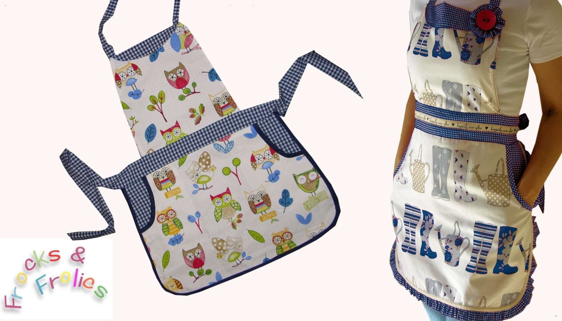 How to sew a frilly Kitchen Apron | Quilt Videos | Pinterest ...