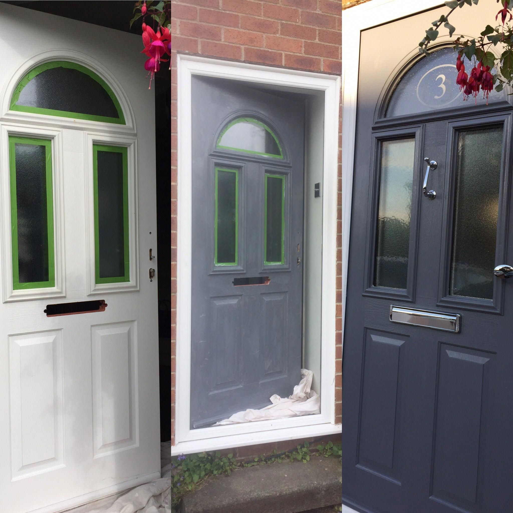Upvc Painted Front Door 2 Coats Upvc Primer From Sandtex 2 Coats Dulux Exterior Satin Cheap Front D Cheap Front Doors Painted Front Doors Painted Upvc Door